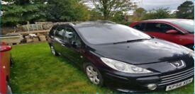 Peugeot 307 HDI Black Estate KP56 XEH Manual Diesel 1600Cc 105558 7 Seater
