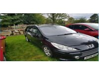 Peugeot 307 HDI Black Estate KP56 XEH Manual Diesel 1600Cc 105558 7 Seater