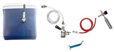 Kegerator Beer Jockey Box Tap Handle Single Faucet Draw Box Coupler Co2 Tank