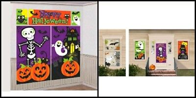 Family Friendly Halloween Trick Or Treat Scene Setters Room Decorating Kit 2 set - Family Friendly Halloween