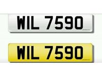 Cherished transfer: WIL7590 / Private Plate / Dateless Registration Number. WILLS go?