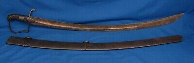 Union British Light Calvary Saber Cast Iron Sword w/Sheath Maybe Model 1796