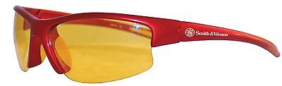 Smith Wesson Equalizer Safety Glasses Red Frame Amber Lens 21299
