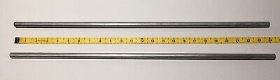 Two 24 Vintage Aluminum Science Lab 2 Stand Support Rods 12
