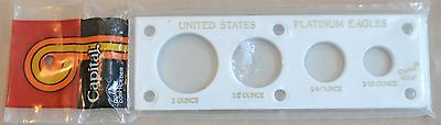 US Platinum Eagles 4 Coin Capital Plastic Holder - White