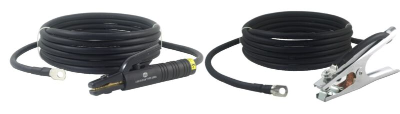 300 Amp Welding Leads Set Terminal Lug Connector #1 cable (25 FEET EACH LEAD)