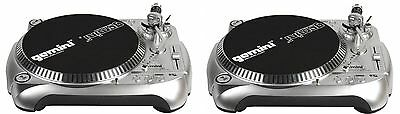 2 GEMINI TT-1100 USB TURNTABLE - TWIN DJ SET / SOFTWARE INCL. Authorized Dealer