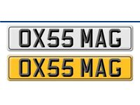 CHERISHED / PRIVATE REGISTRATION PLATE OX55 MAG