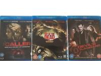 Horror Blu Ray Movies Films - The Caller, Day of the Dead, Devil's Playground