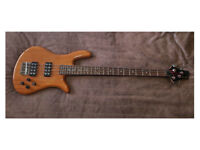 WESLEY MONARCH SOLID ALDER BODY ELECTRIC BASS GUITAR MINT almost unused