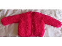 Lovely pink cardigan, size 2-3 years
