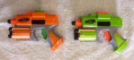 2X Nerf Strike-fire Pistols