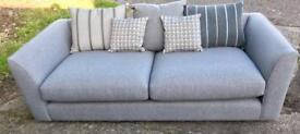 New DFS Signature Large Grey Sofa Retail £1000+