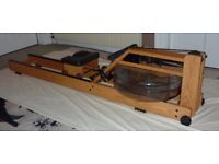 WaterRower premium rowing machine, as new; 18 litre capacity; can be stored upright.