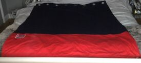 Next blue and red eyelet curtains child's bedroom union jack