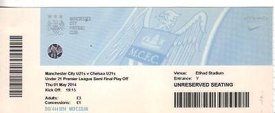 2013/14       Man City U21    v     Chelsea U21     Complete Ticket Perfect