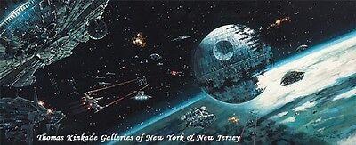 Star Wars Death Star Final Battle 9 x 22 Wrapped Canvas by Rodel Gonzalez
