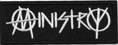 Ministry (band) Embroidered Patch Iron-On Sew-On fast US shipping