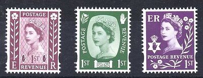 N Ireland. 2008. NI154-NI1156. Set x 3 ex-booklet values. Unmounted mint.