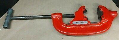 Ridgid No. 44-s Heavy Duty 4-wheel Pipe-tube Cutter 2-12 - 4 Capacity