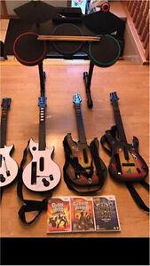 Wii rockband complete set