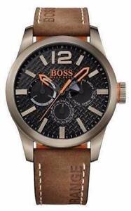 Hugo Boss Orange Mens Paris Brown Leather Strap 1513240 Watch