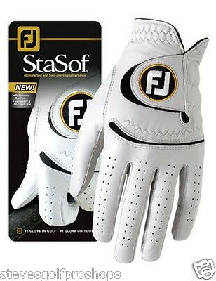 "4 BRAND NEW 2012 MEN'S FOOTJOY STA-SOF GOLF GLOVE'S LARGE "" Black Trim "" on Rummage"