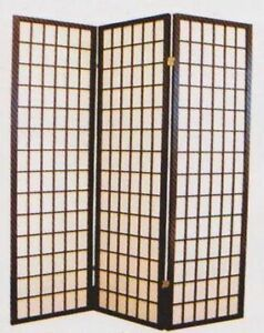 NEW WALL ROOM DIVIDER ESPRESSO 3 PANELS