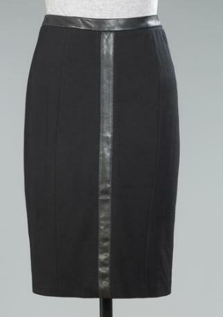 black leather skirt size 16 ebay