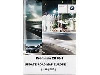 BMW PREMIUM 2018-1 USB Navigation Update Road Map Europe ( inc FSC Code.)
