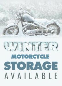 Motorcycle heated winter storage