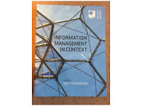 Information Management in Context course text book new!