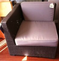 Over sized-Resin-Wicker-Patio Chair and Ottoman!