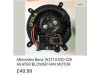 Mercedes-Benz W211 E320 CDI Heater blower Fan Motor