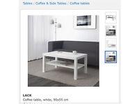 Ikea Lack White Table TV Unit or Coffee Table.