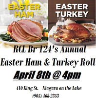 RCL Br 124 Annual Easter Ham and Turkey Roll!