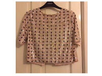 TopShop. Beaded top. Size M