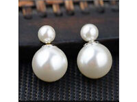Sterling silver 925 pearl earrings