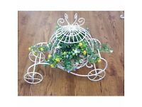 Classic white Carriage flower pot and many more!!!!