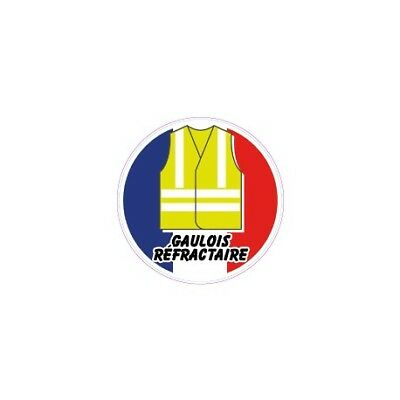 autocollant gilet jaune france sticker