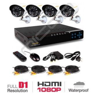 CCTV 8CH 1080P Full HD DVR NVR AHD & 4 X 2.0 MP HD Security Camera