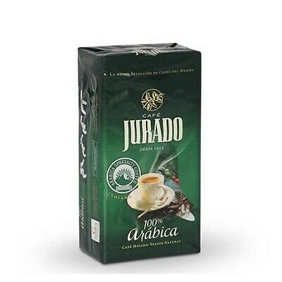 Café molido JuradoTueste Natural 100% Arábica 250gr Spanish ground Coffe Arabica