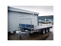 INDESPENSION 12' X 6' TWIN AXLE FLATBED TRAILER 3500KGS gross DROPSIDES AVAILABLE