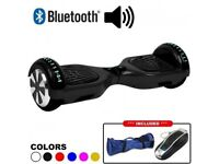 Black Hoverboard swegway with Bluetooth speaker and Samsung battery