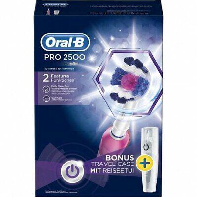 Cepillo Eléctrico Oral-B PRO 2500 Rosa 8.800RPM Batería