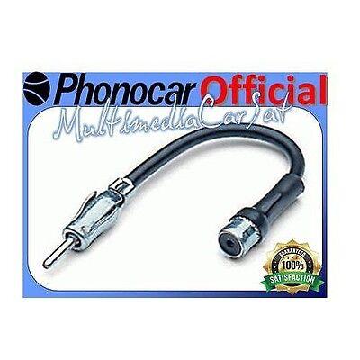 Phonocar 85291 Iso-Din Spinotto Jack Antenna Auto Radio FM Adattatore Connettore usato  Bari