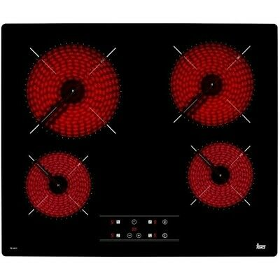 Vitrocerámica Teka TB 6415 4 Fuegos Negro 6.300W 60CM