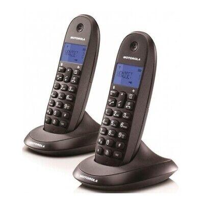 Teléfono Fijo Motorola C1002LB+DUO NEGRO Inalámbrico