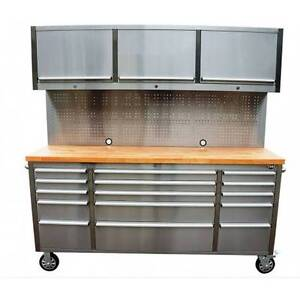 1.8 High Quality Stainless Steel Work Bench Tool Trolley Combo Banyo Brisbane North East Preview