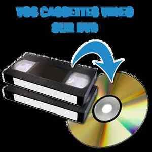 JE PEUX TRANSFÉRER VOS SOUVENIRS ET FILMS VHS SUR UN DVD
